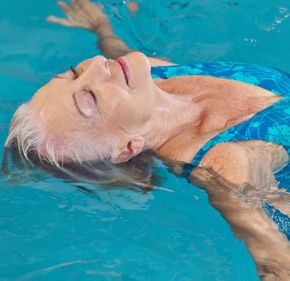 Hydrotherapy, elderly woman